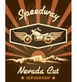 Retro Speedway Nevada Cut Graphic Design vector image vector image