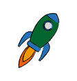 rocket startup business creativity innovation vector image vector image