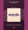 sale poster or flyer design discount background vector image