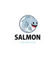salmon thumb up mascot character logo icon vector image vector image