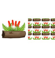 seamless background design with aloe vera vector image vector image
