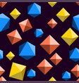 seamless pattern with orange blue and yellow vector image