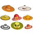 Set of female hats vector image vector image
