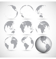 Set of globe icons vector image vector image