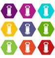 sewerage pipe icons set 9 vector image vector image