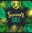 summer sale background discount card with vector image vector image