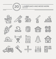 Timber Industry Icons vector image