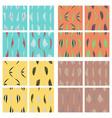 tribal background ethnic pattern set boho vector image vector image