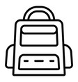 trip backpack icon outline style vector image vector image