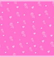 valentines day seamless pattern with flowers vector image vector image