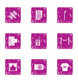 voice ad icons set grunge style vector image