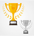 winner solid trophy icon with number one vector image vector image