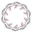 wreath with leaves and branches vector image