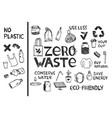 zero waste elements sketch vector image vector image