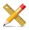 pencil ruler vector image