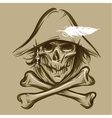 Skull of the pirate vector image