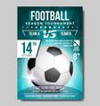 soccer poster banner advertising sport vector image
