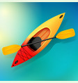 kayak and paddle on water of