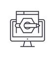 content marketing concept thin line icon vector image