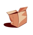 Opened paper box vector image