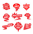 advertising red colorful tags vector image