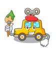 artist character clockwork car for toy children vector image