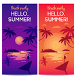Beach party banners vector image