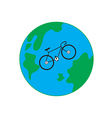 Bicycle Earth vector image vector image