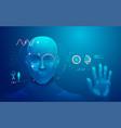 biometrics vector image vector image