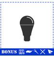 bulb icon flat vector image vector image