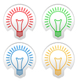 Bulb stickers vector image