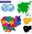 Cambodia map vector image