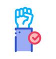 cast vote icon outline vector image