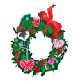 Christmas garland isolated on white background vector image vector image