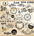 collection of typographic elements vintage style vector image