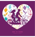 colorful tulip flowers couple on tandem vector image vector image