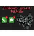 Customer Service Bad Attitude vector image vector image