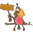 Cute Parrot Cartoon Character vector image vector image