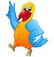 cute parrot on white background vector image vector image