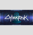 cyberpunk colorful futuristic lettering banner vector image vector image