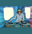 dj boy party mix music vector image vector image