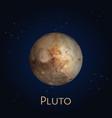 dwarf planet pluto icon solar system cosmos vector image vector image