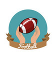 emblem football game icon vector image vector image