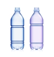 Empty Transparent Bottle Set Realistic Blank vector image vector image
