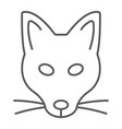 fox thin line icon animal and zoo vector image vector image