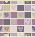 Geometric pattern with hearts vector image vector image