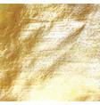 golden foil background vector image vector image