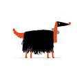 greyhound dog sketch for your design vector image