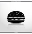 hamburger web icon vector image vector image