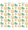 Hanukkah seamless pattern Hanukkah background vector image vector image